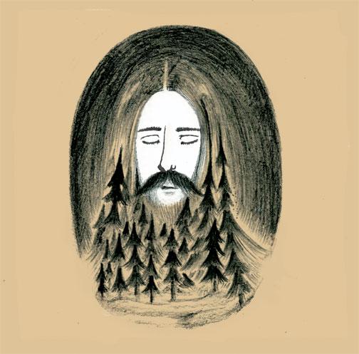 Mountain, Man & Moon
