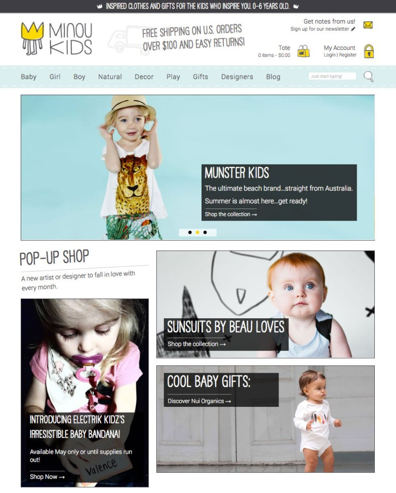 minoukids.com Homepage
